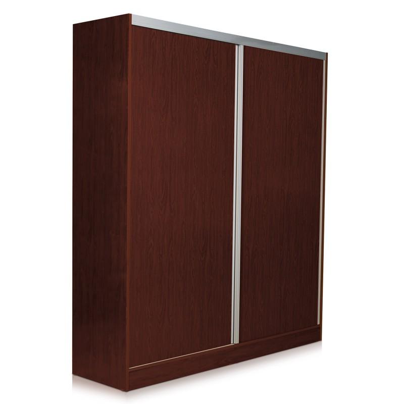Placard ropero de 2 puertas corredizas capri con for Puertas corredizas metalicas